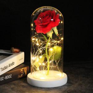 Svítící růže v luxusním balení