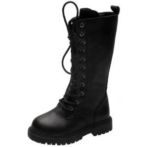 Vysoké šněrovací kožené boty