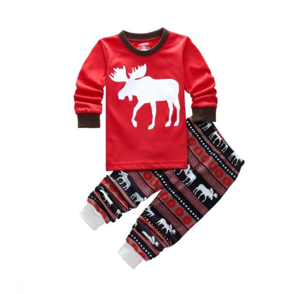 Vánoční pyžamo se sobem pro celou rodinu