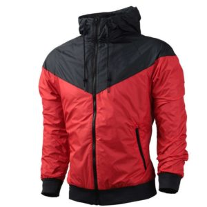 Autumn Fashion Men's Windbreaker Jacket Fitness Running Clothes Student Casual Loose Lapel Hooded Jacket