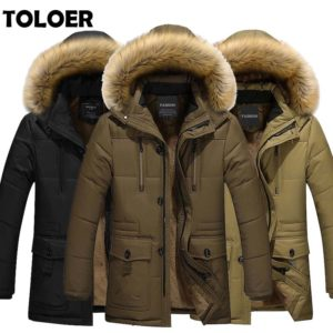 2020 Long Parkas Men Winter Warm Thickening Mens Long Jacket In Wool Cotton-padded Jacket Male Fashion Hooded Parka Clothes Coat