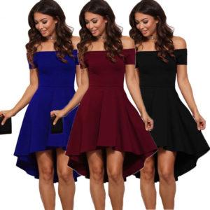 Módní společenské šaty bez ramínek - 3 varianty