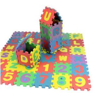 Vzdělávací dětská podložka - písmena + číslice