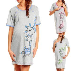 Pohodlná těhotenská noční košile