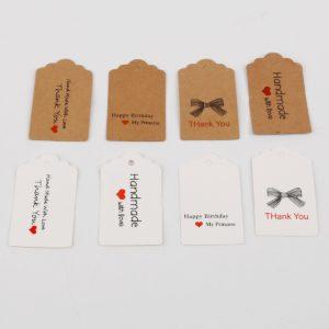 Dřevěné HANDMADE kartičky na dárky