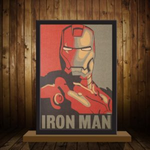 Pevný plakát IRON MAN AVENGERS z pevného papíru