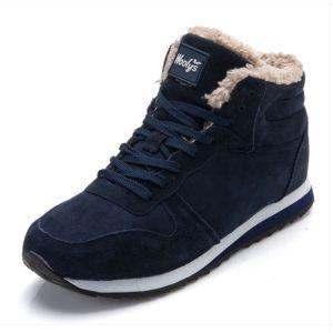 Pánské zimní boty s kožíškem uvnitř