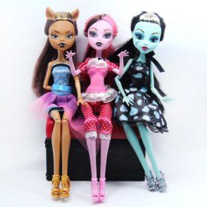 Set dívčích panenek Monster (3pcs)