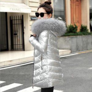 Dámská luxusní bunda v metalických barvách Laila