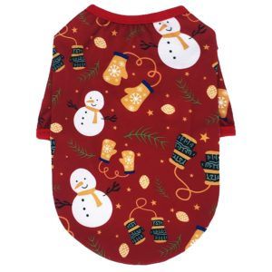 Zimní obleček pro domácího mazlíčka s vánočním vzorem