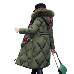 Dámská zimní bunda se vzorem a kožichem - 5 barev