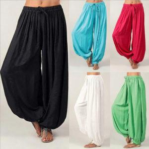 Dámské ležérní přehozené volné harémové kalhoty