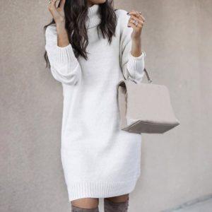 Long Sleeve Sweater Dress Women Autumn Winter Dresses