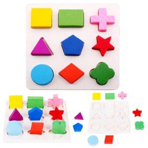 3D barevné puzzle pro děti - předškolní hra