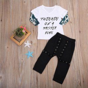 Chlapecká luxusní souprava – triko, kalhoty