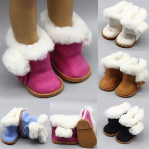 Boty s kožíškem pro panenky