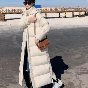Dámská dlouhá zimní bunda - 2 barvy