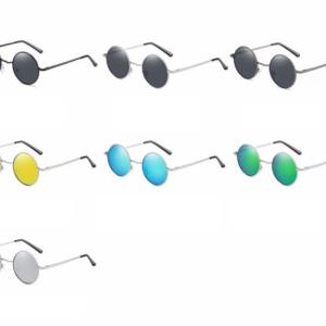 Retro pánské kulaté polarizované sluneční brýle