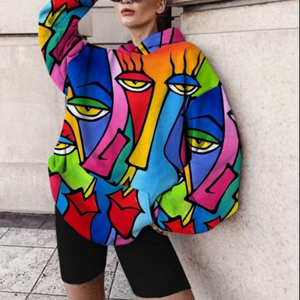 Dámská módní barevná mikina