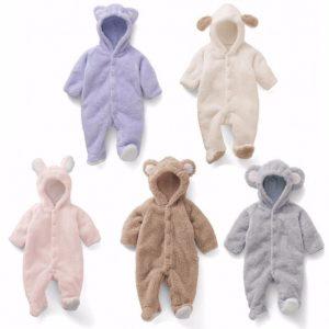 Zimní dupačky s oušky pro chlapečky i holčičky Teddy