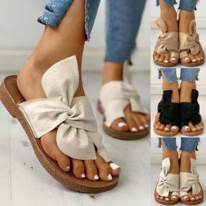 Dámské jarní sandále s mašlí