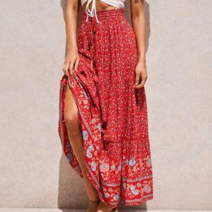 Dámská dlouhá sukně s květinami Sarah