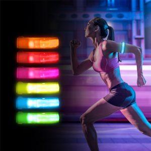 Sportovní bezpečnostní LED náramek