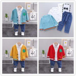 Dětský jarní set s košilkou a svetrem