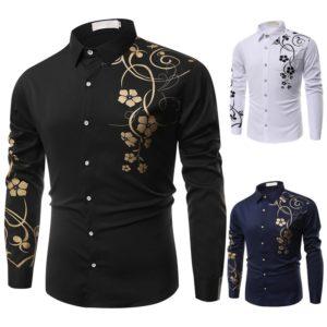 Pánská ležérní košile s květinovým potiskem