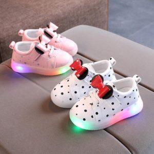 Dětské neformální botky s LED světýlky
