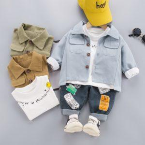 Chlapecký stylový podzimní set s košilkou