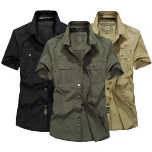 Pánská stylová letní bavlněná košile