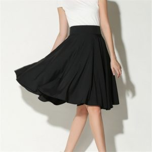 Dámská elegantní sukně s vysokým pasem