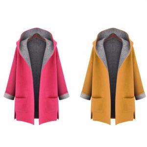 Dámský oboustranný kabát s kapucí