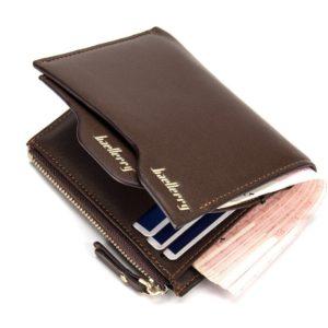 Pánská kožená peněženka na drobné a doklady