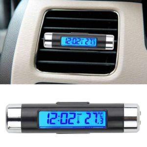 Stylové přenosné LCD Hodinky do auta