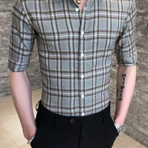 Pánská letní kostkovaná košile