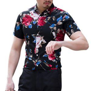 Pánská letní košile v havajském stylu