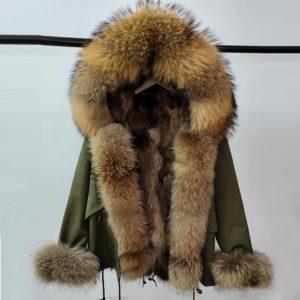 Luxusní dámská bunda s pravou kožešinou z lišky