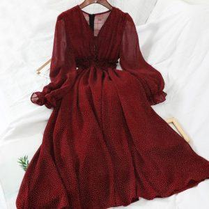Dlouhé šifonové dámské šaty