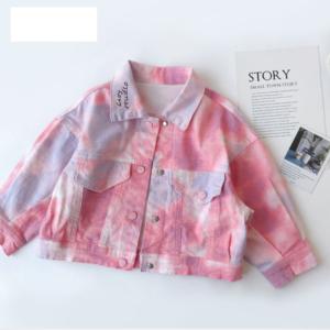 Dětská batikovaná džínová bunda Valeria