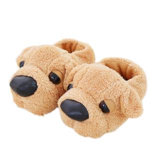 Dámské plyšové pantofle ve tvaru psíka