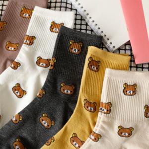 Bavlněné ponožky se zvířátky pro ženy a dívky
