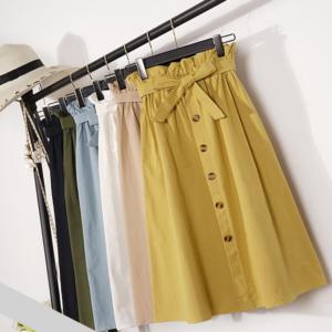 Dámská sukně s vysokým pasem - střední délka