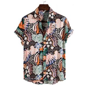 Pánské letní stylové košile s krátkým rukávem