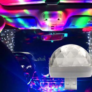 Barevné USB světlo do automobilu