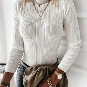 Dámský elegantní jarní přiléhavý svetr Victoria