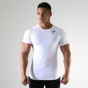 Pánské Fitness triko s krátkým rukávem Shark