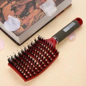 Kadeřnický masážní kartáč na vlasy - antistatické štětiny