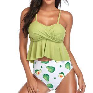 Dámské stylové plavky s Push-Up efektem a vysokým pasem Megan